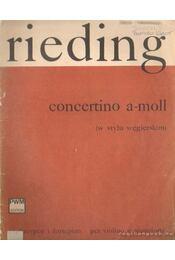 Rieding - Concerto a-moll - Rieding, Oskar - Régikönyvek
