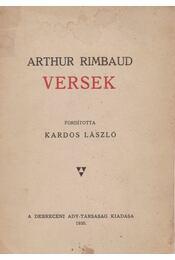 Versek - Rimbaud, Arthur - Régikönyvek