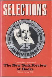 Selections - Robert B. Silvers, Barbara Epstein - Régikönyvek