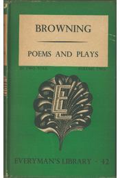 Poems and Plays vol. 2 - Robert Browning - Régikönyvek