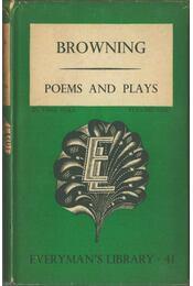 Poems and Plays vol. 1 - Robert Browning - Régikönyvek
