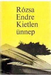 Kietlen ünnep - Rózsa Endre - Régikönyvek