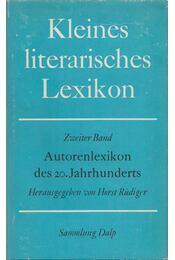 Kleines literarisches Lexikon II. - Rüdiger, Horst - Régikönyvek