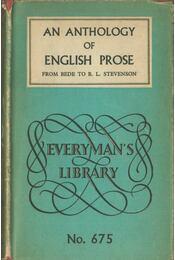 An Anthology of English Prose - S. L. Edwards - Régikönyvek