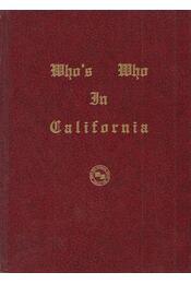 Who's Who in California - Sarah Vitale (Ed.) - Régikönyvek