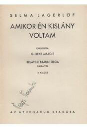Amikor én kislány voltam - Selma Lagerlöf - Régikönyvek