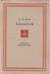 Színművek - Shaw, G.B. - Régikönyvek