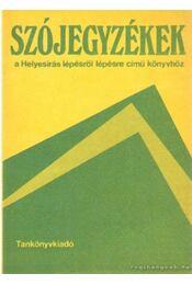 Szójegyzékek - Stenczer Ferenc - Régikönyvek