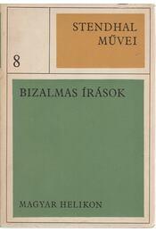Bizalmas írások - Stendhal - Régikönyvek
