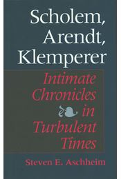 Scholem, Arendt, Klemperer - Steven E. Aschheim - Régikönyvek