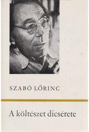 A költészet dicsérete - Szabó Lőrinc - Régikönyvek