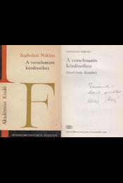 A verselemzés kérdéseihez (dedikált) - Szabolcsi Miklós - Régikönyvek
