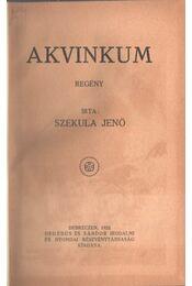 Akvinkum - Szekula Jenő - Régikönyvek