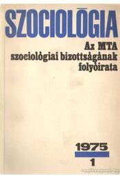 Szociológia 1975/1 - Régikönyvek