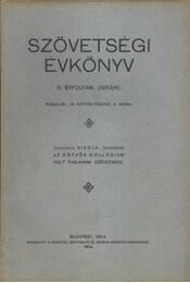 Szövetségi Évkönyv III. évf. (1923/4.) - Régikönyvek
