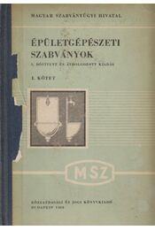 Épületgépészeti szabványok I. - Taub Lajos, Vertse Dezső - Régikönyvek