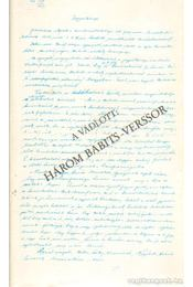 A vádlott: Három Babits-verssor - Téglás János - Régikönyvek