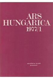 Ars Hungarica 1977/1 - Tímár Árpád - Régikönyvek