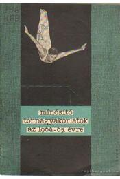 Minősítő tornagyakorlatok az 1964-65. évre - Több szerző - Régikönyvek
