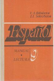 Espanol 9 - V. A. Belousova, E. I. Solovtsova - Régikönyvek