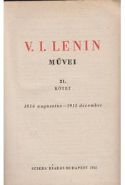V. I. Lenin művei 21. kötet - V. I. Lenin - Régikönyvek