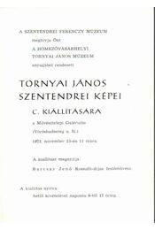 Meghívó Tornyai János szentendrei képei c. kiállításra - Várhelyi Vanda - Régikönyvek