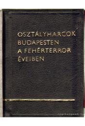 Osztályharcok Budapesten a fehérterror éveiben (mini) - Végh Oszkár - Régikönyvek