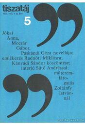 Tiszatáj 1979. május 33. évf. 5. - Vörös László - Régikönyvek