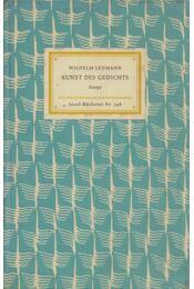 Kunst des Gedichts - Wilhelm Lehmann - Régikönyvek