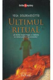 Ultimul Ritual - Yrsa Sigurdardóttir - Régikönyvek